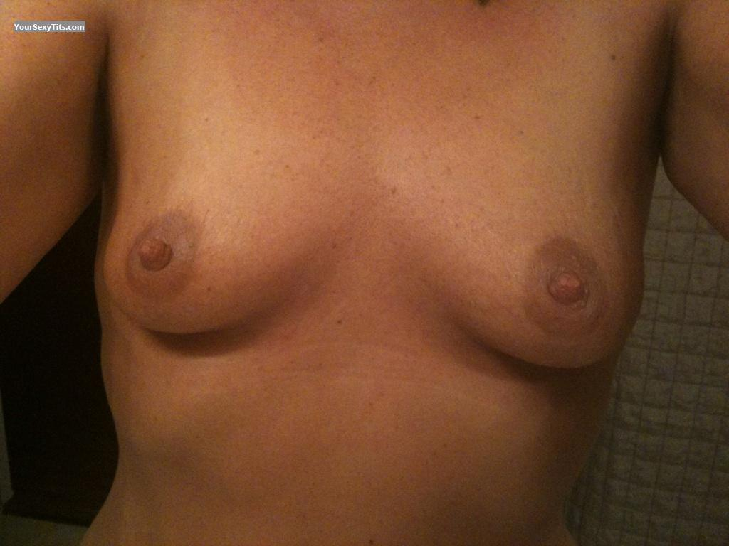 Tit Flash: My Medium Tits (Selfie) - Jillybean from United States