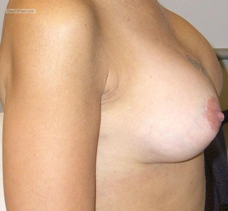 Tit Flash: Wife's Medium Tits - Titty from United States