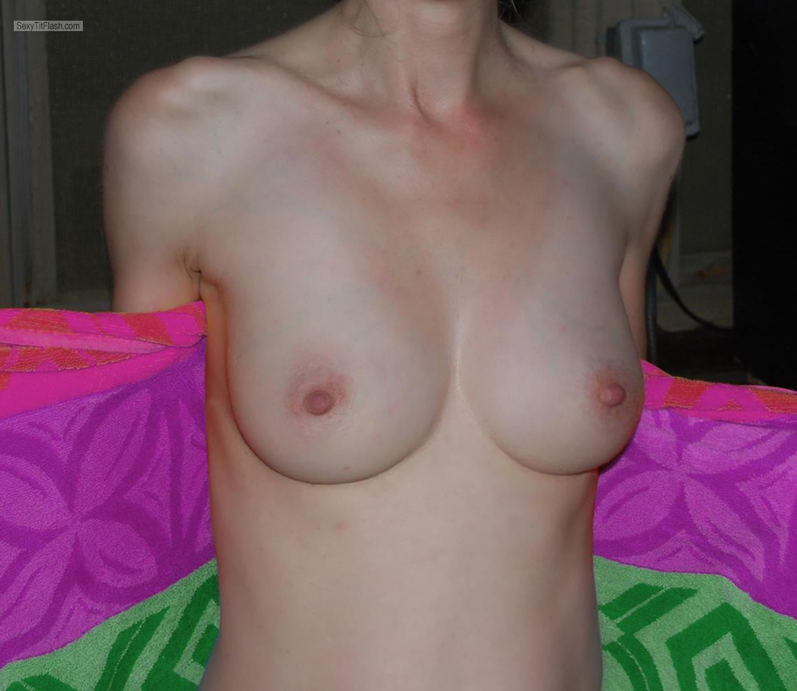 Tit Flash: My Small Tits - Shy UK Wife from United Kingdom