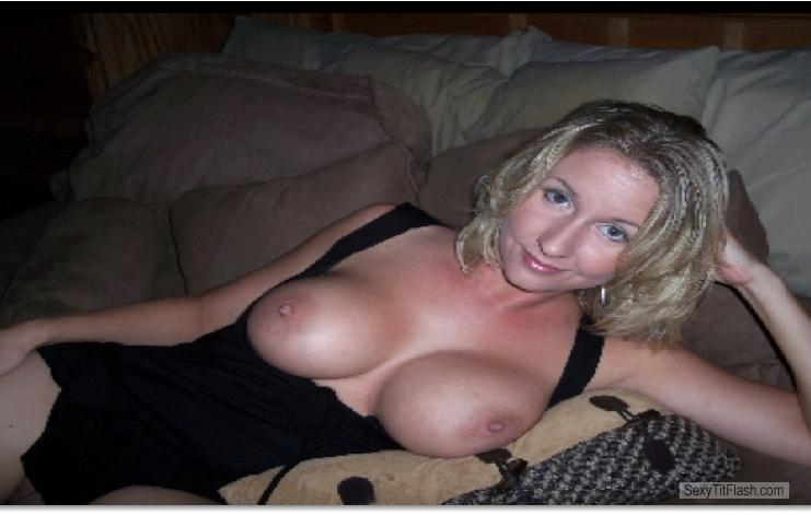 Tit Flash: My Medium Tits - Topless Leslie T from United States