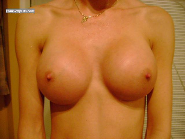 Tit Flash: Wife's Medium Tits - Wife Tits from Canada