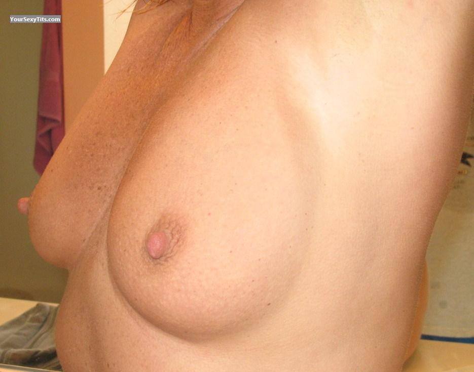 Tit Flash: Medium Tits - Liza from United States