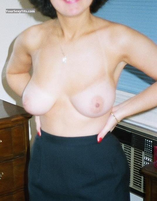 Tit Flash: Medium Tits - NY Gal from United States