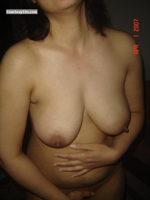 Tit Flash: Medium Tits - Tara from United States