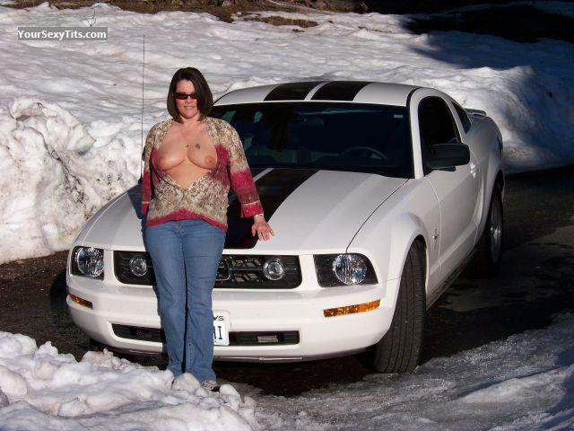 Tit Flash: Medium Tits - Mustang Mama from United States