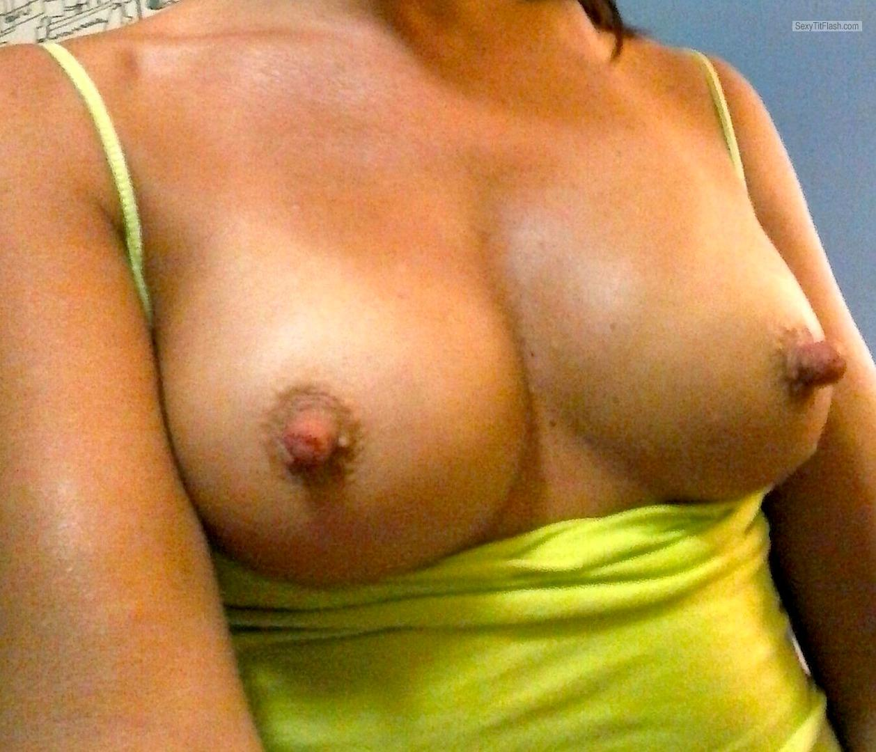 My Medium Tits Selfie by Long Nipple Princess