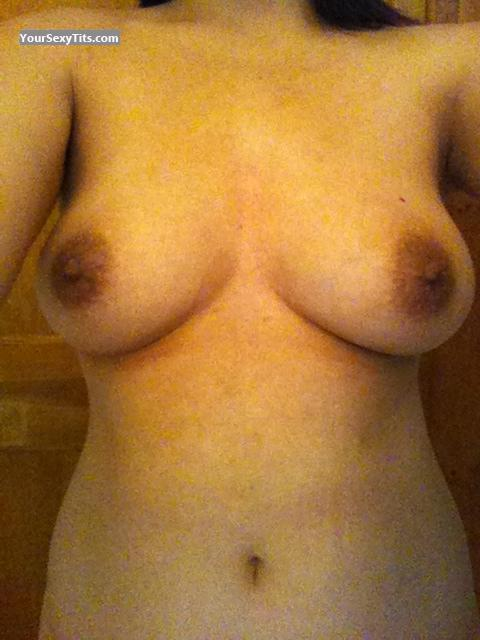 Tit Flash: Medium Tits - Topless Mia from United Kingdom