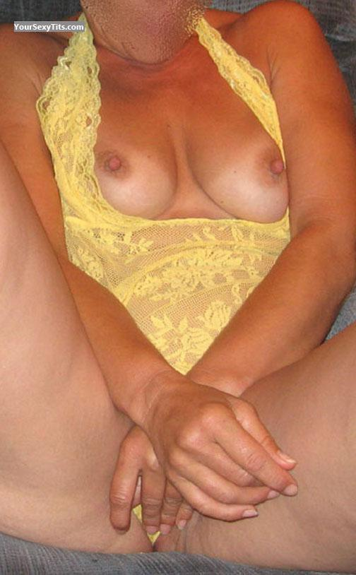 Tit Flash: Wife's Small Tits - TsSara from United States