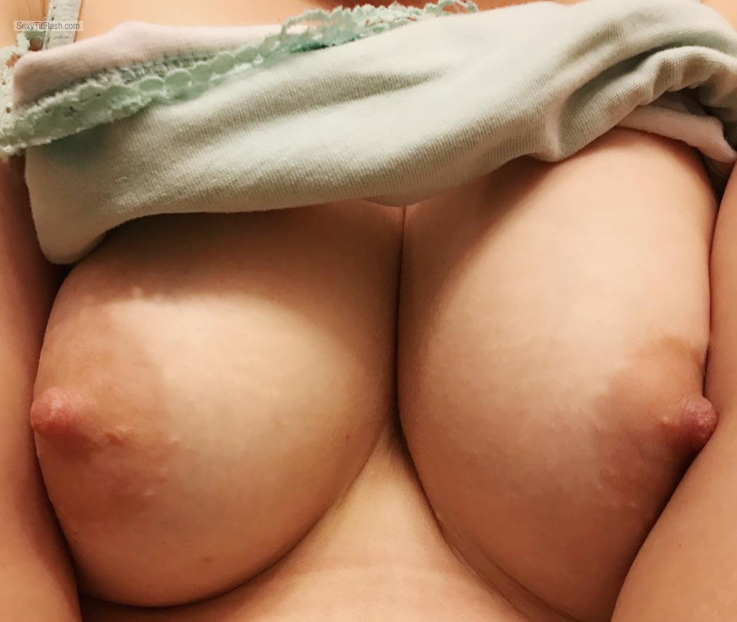 Tit Flash: My Medium Tits (Selfie) - A from United States