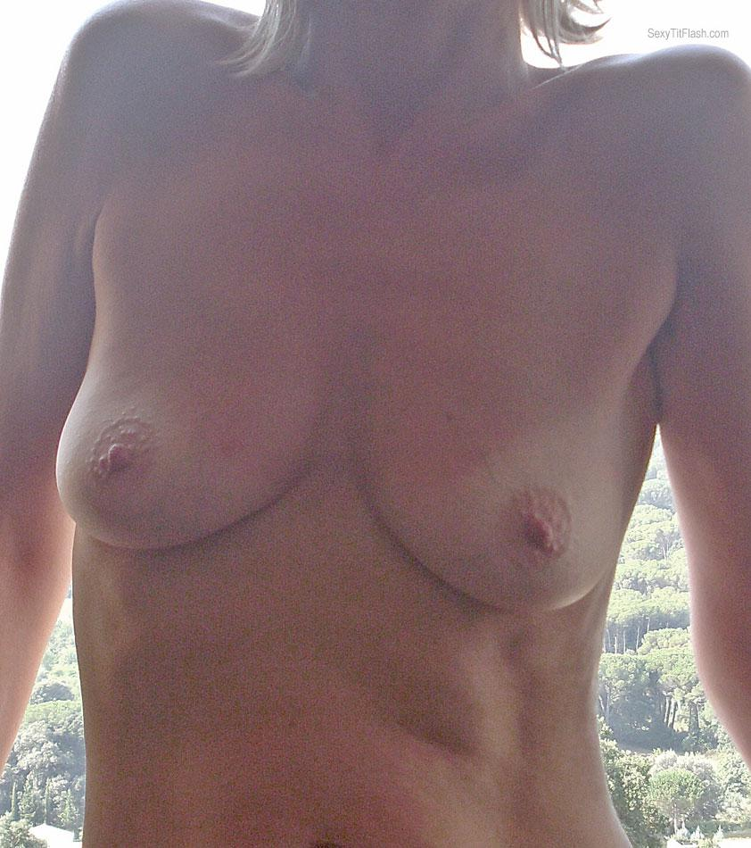 Tit Flash: My Tanlined Small Tits - Josephine from United Kingdom