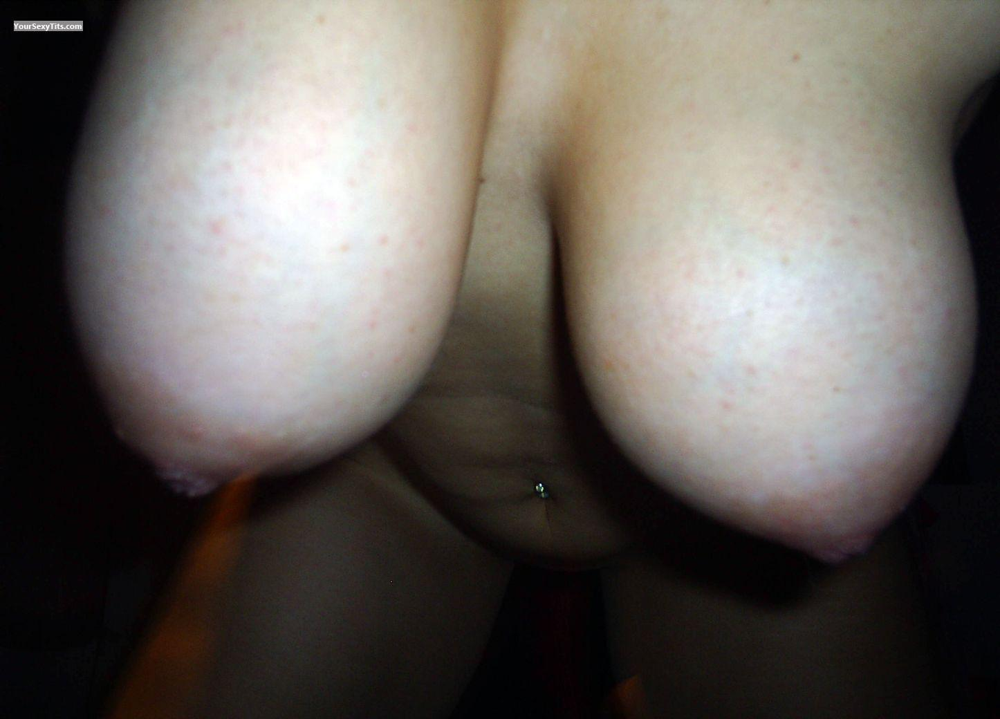 Tit Flash: Girlfriend's Medium Tits - Anni from Germany