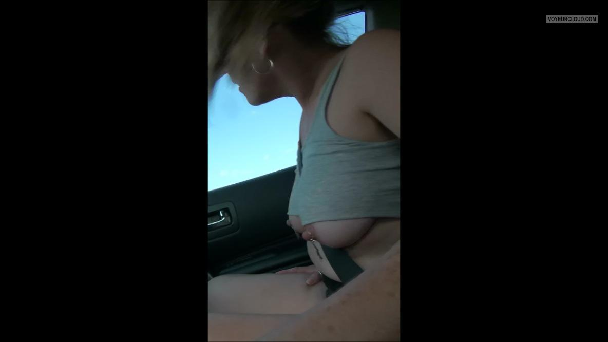 Tit Flash: Girlfriend's Medium Tits - SexyKittyKat from United States