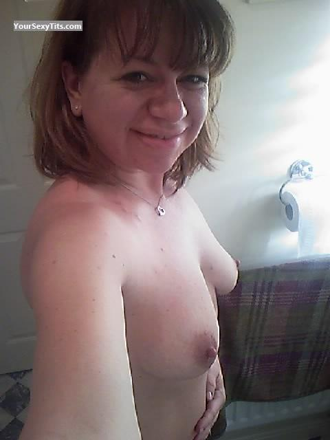 Tit Flash: My Small Tits (Selfie) - Topless Miss K from United Kingdom