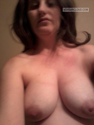 Tit Flash: My Medium Tits - Topless Christinacarr from United States