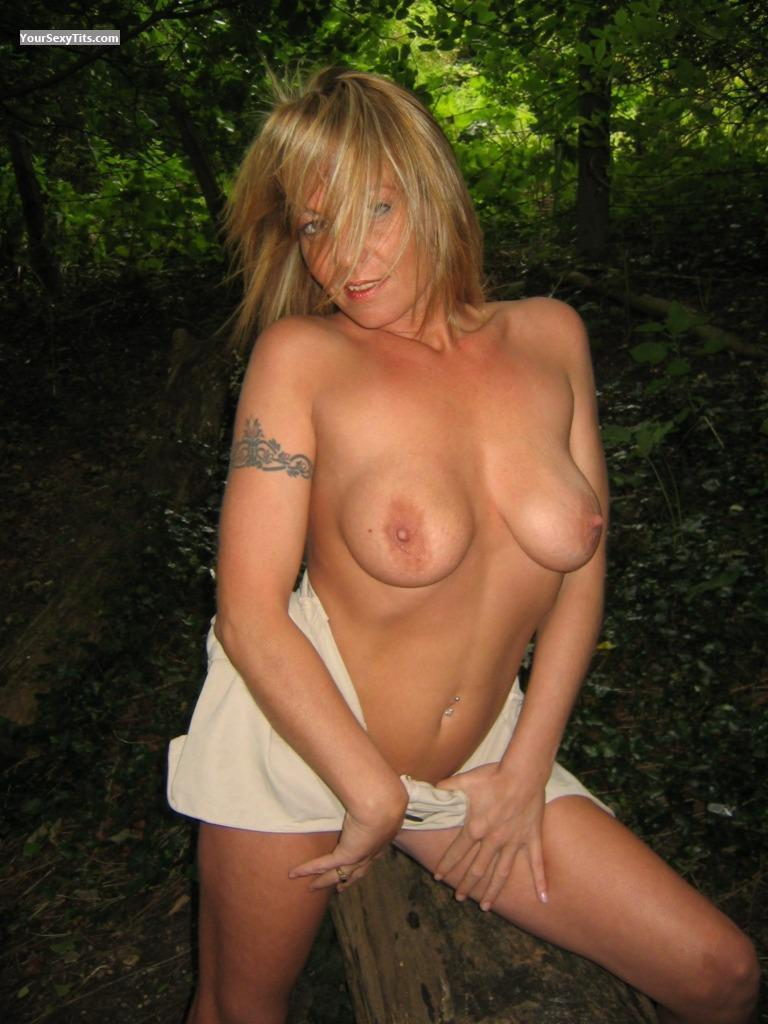 Tit Flash: Medium Tits - Topless K... from United Kingdom