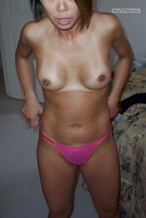 Tit Flash: My Tanlined Small Tits - Orientalpervert from China