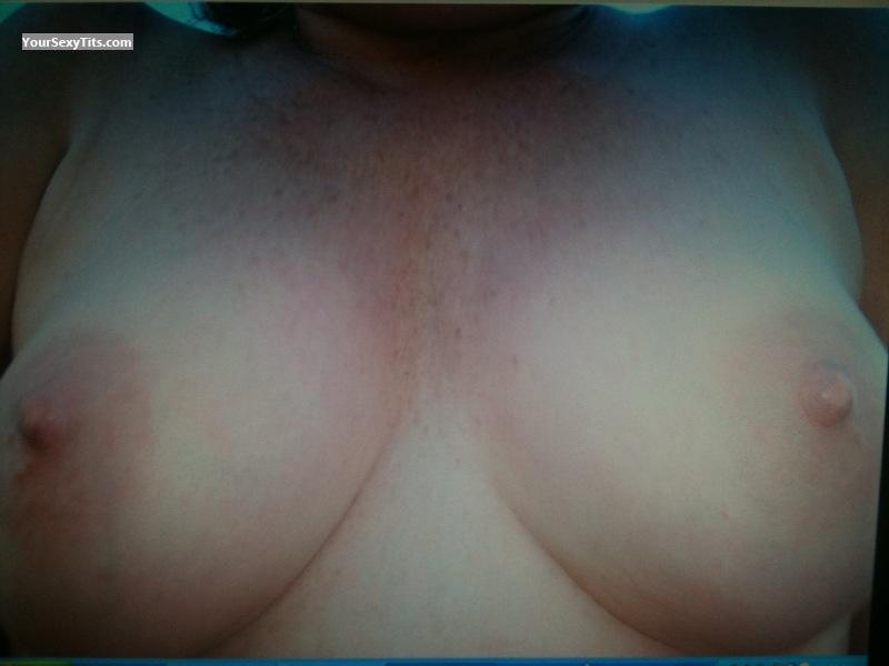 Tit Flash: Medium Tits - CJ from United States