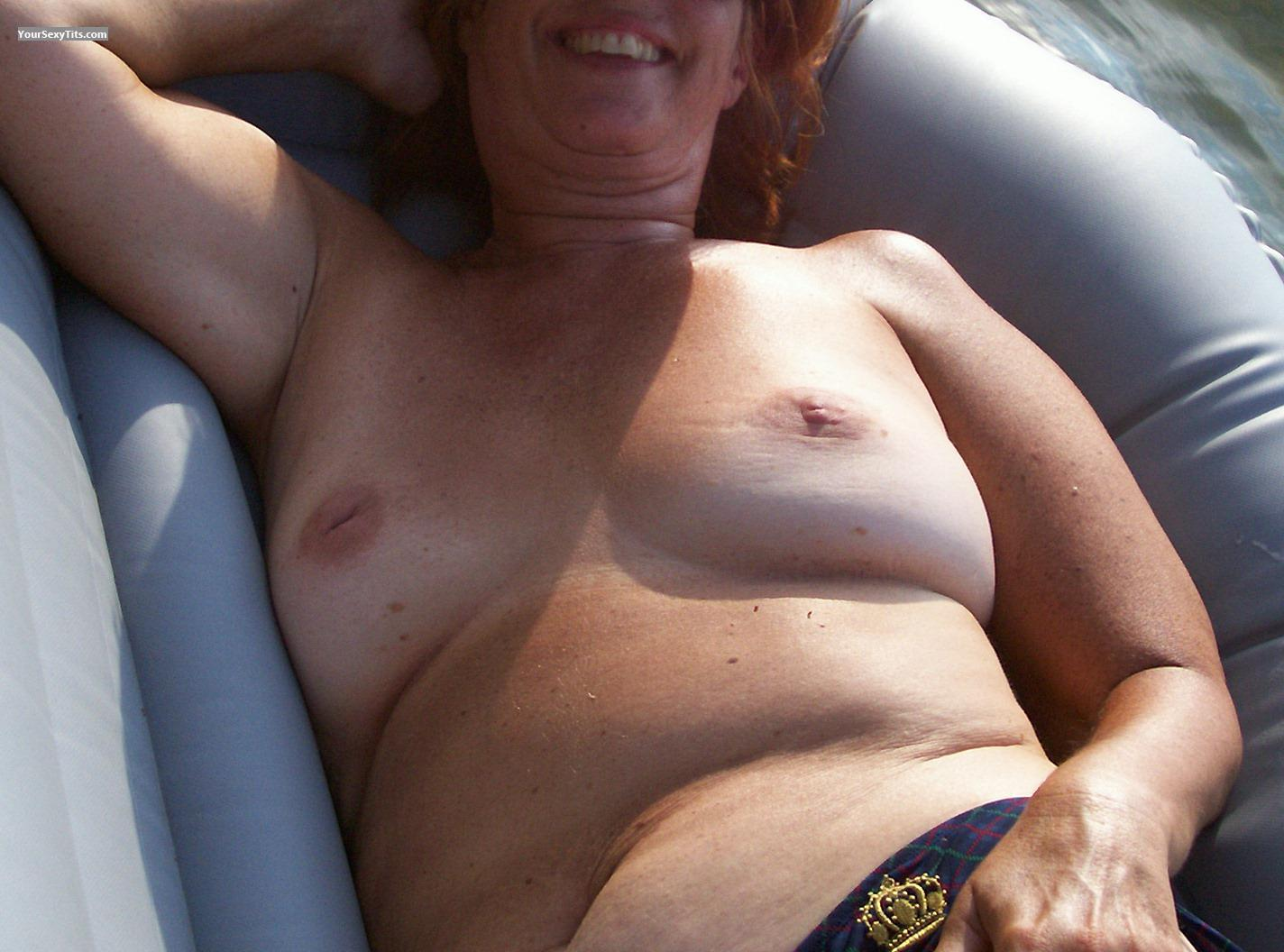 Tit Flash: Medium Tits - Sandy from United States
