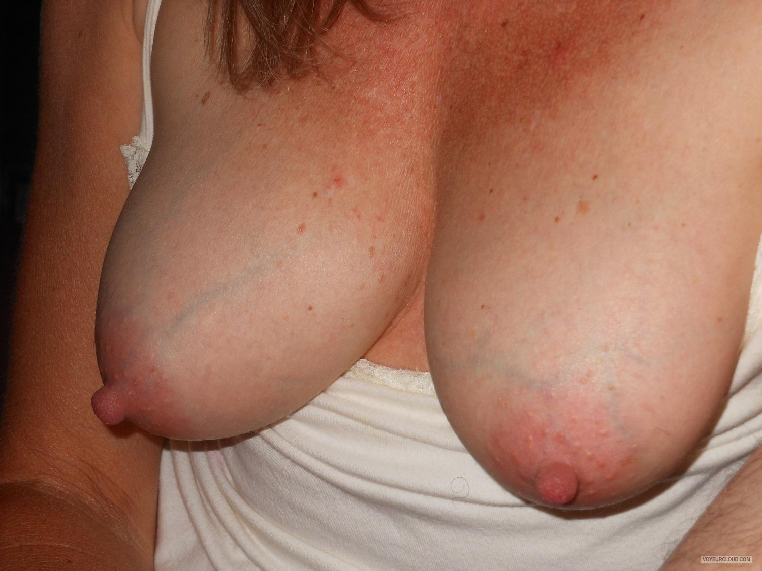 Tit Flash: Wife's Medium Tits - Sexy Sam from United States