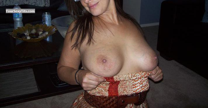 Tit Flash: My Friend's Medium Tits - Convinvced from United States