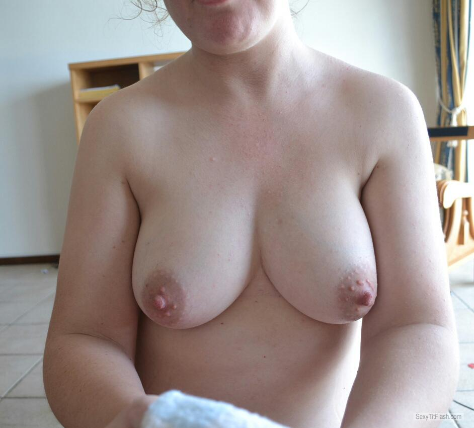 Tit Flash: My Medium Tits (Selfie) - Emma from South Africa