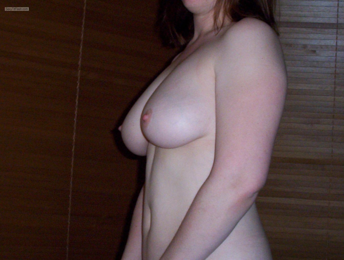 Tit Flash: My Medium Tits - Jakey from United Kingdom