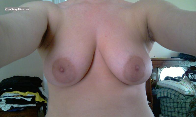 Tit Flash: My Medium Tits (Selfie) - Shown Off from United States
