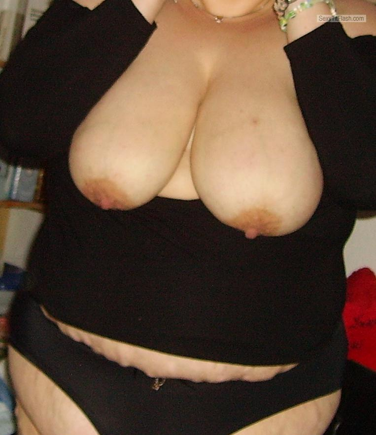 Tit Flash: My Big Tits - Jannie from Germany