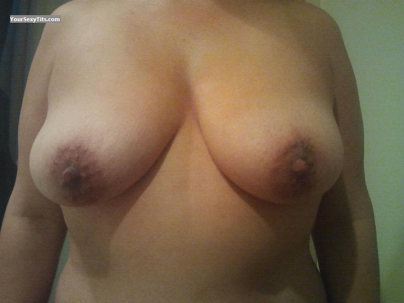 Tit Flash: Wife's Medium Tits - 35yr Wife from United States