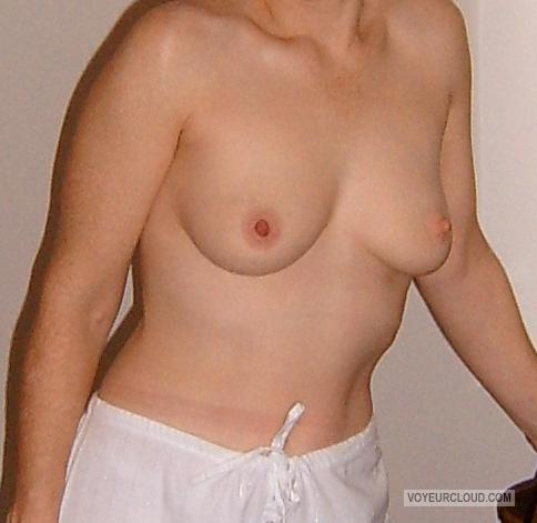 Tit Flash: Wife's Small Tits - Gossamer from United States
