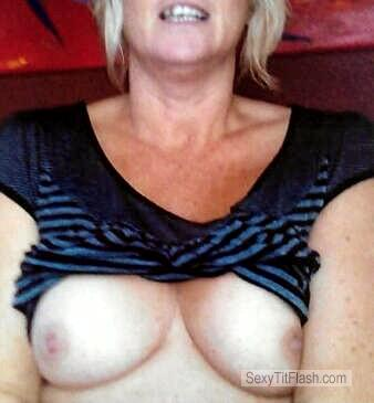 Tit Flash: Wife's Medium Tits - Wife from New Zealand