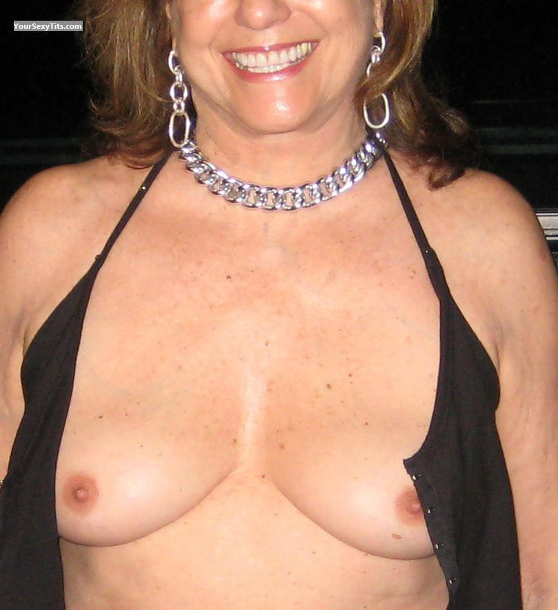 Tit Flash: Medium Tits - Marie Sexy At Sixty from United States