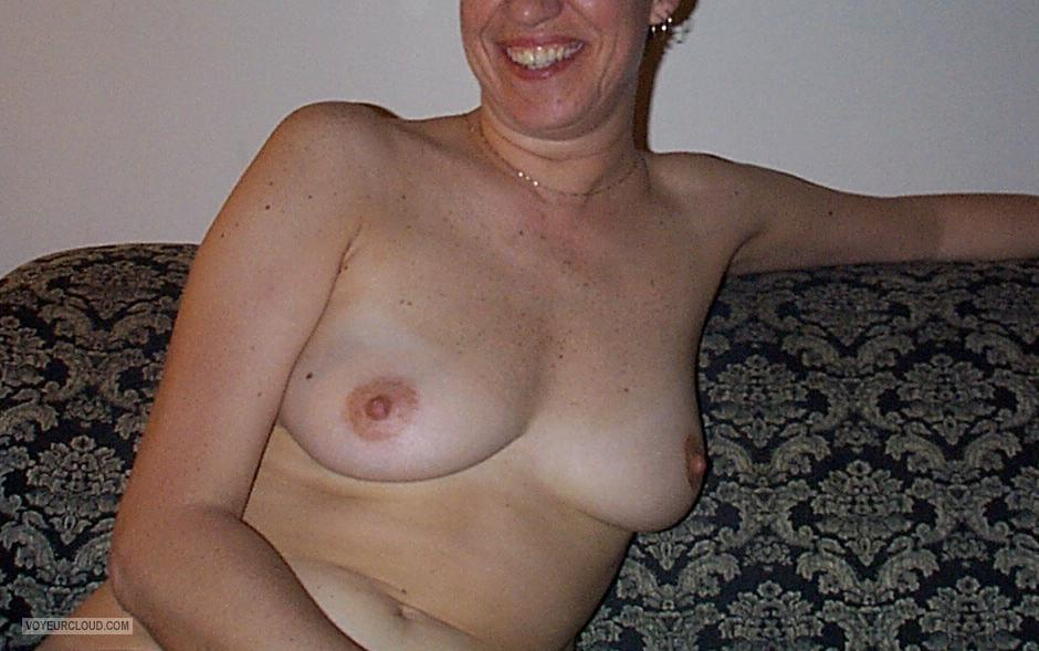 Tit Flash: Wife's Medium Tits - ShyCdnGirl from United States
