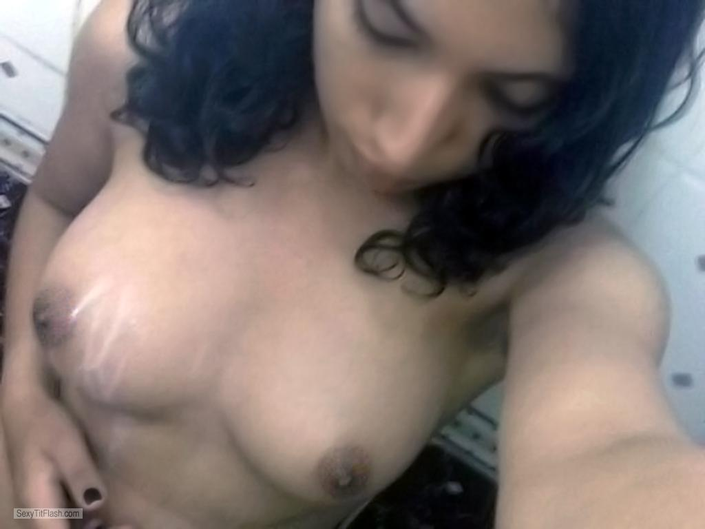 Tit Flash: My Medium Tits (Selfie) - Topless Nina69nina from United States