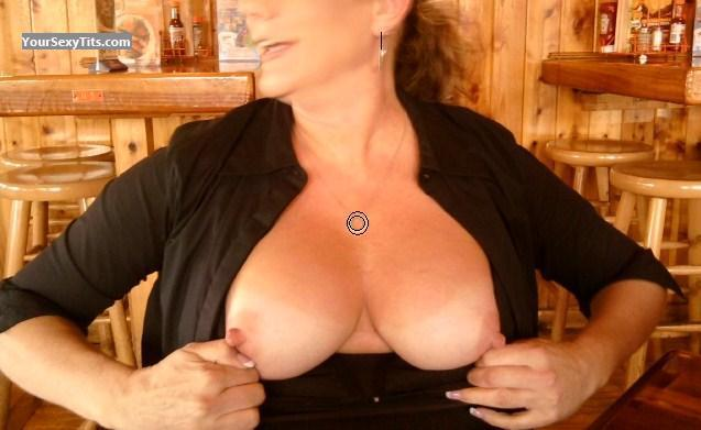 Tit Flash: Medium Tits - Ms Gr8pair from United States