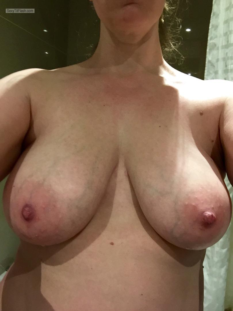 Medium Tits Of My Wife Selfie by In Red