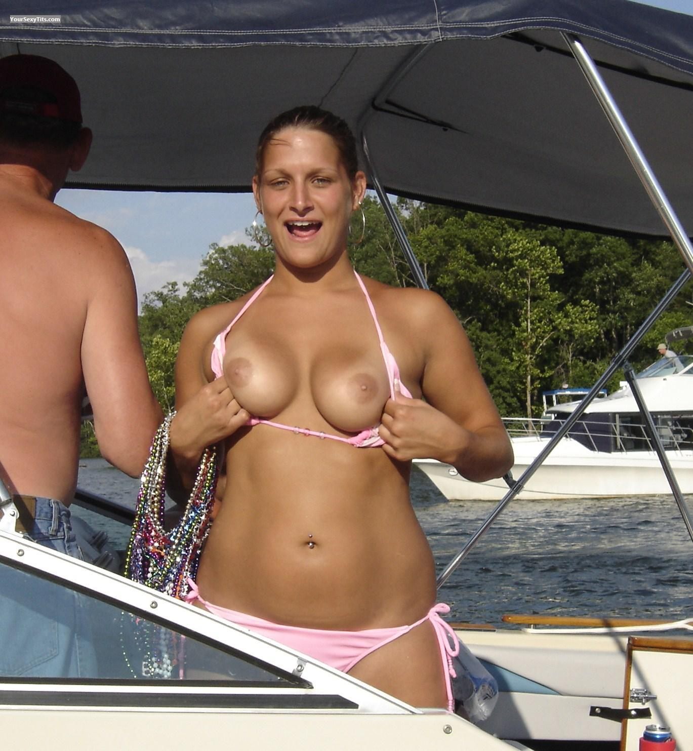 Tit Flash: Medium Tits - Topless None from United States