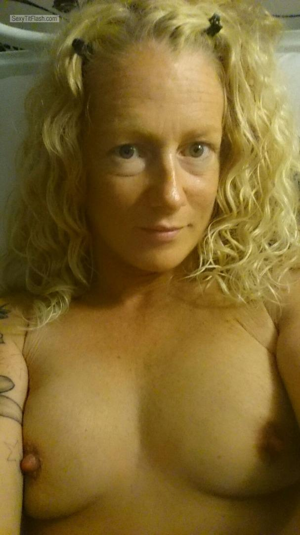 My Medium Tits Topless Selfie by Mell