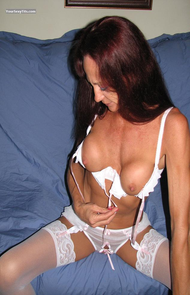 Tit Flash: Medium Tits - Topless Lacy469 from United States