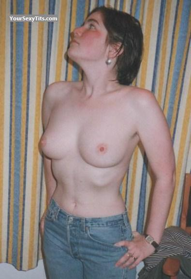 Tit Flash: Medium Tits - Topless Emily Playing from United States