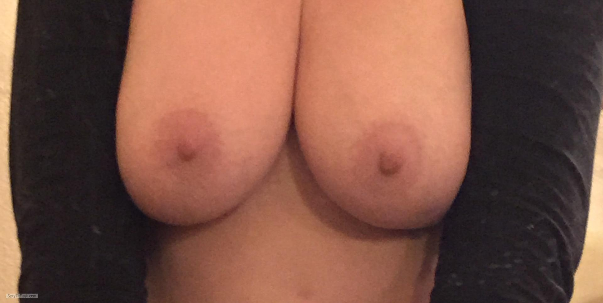 Tit Flash: Wife's Medium Tits (Selfie) - New Orleans Lady from United States