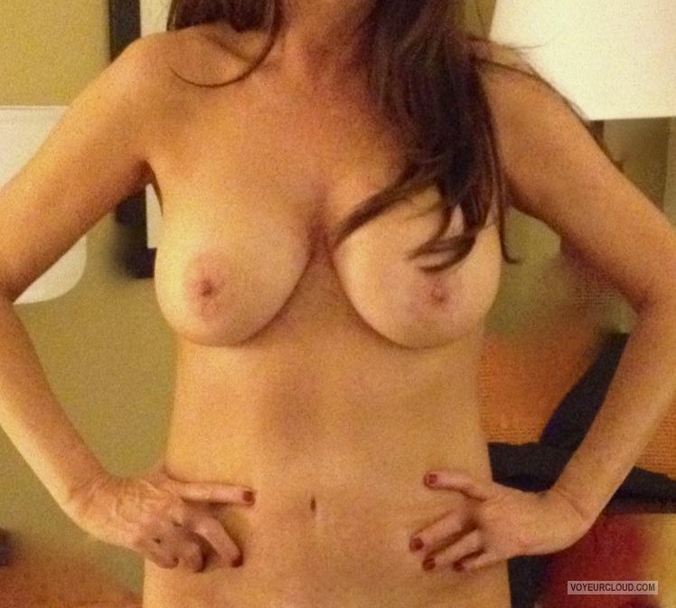 Tit Flash: Wife's Medium Tits - Lola from United States