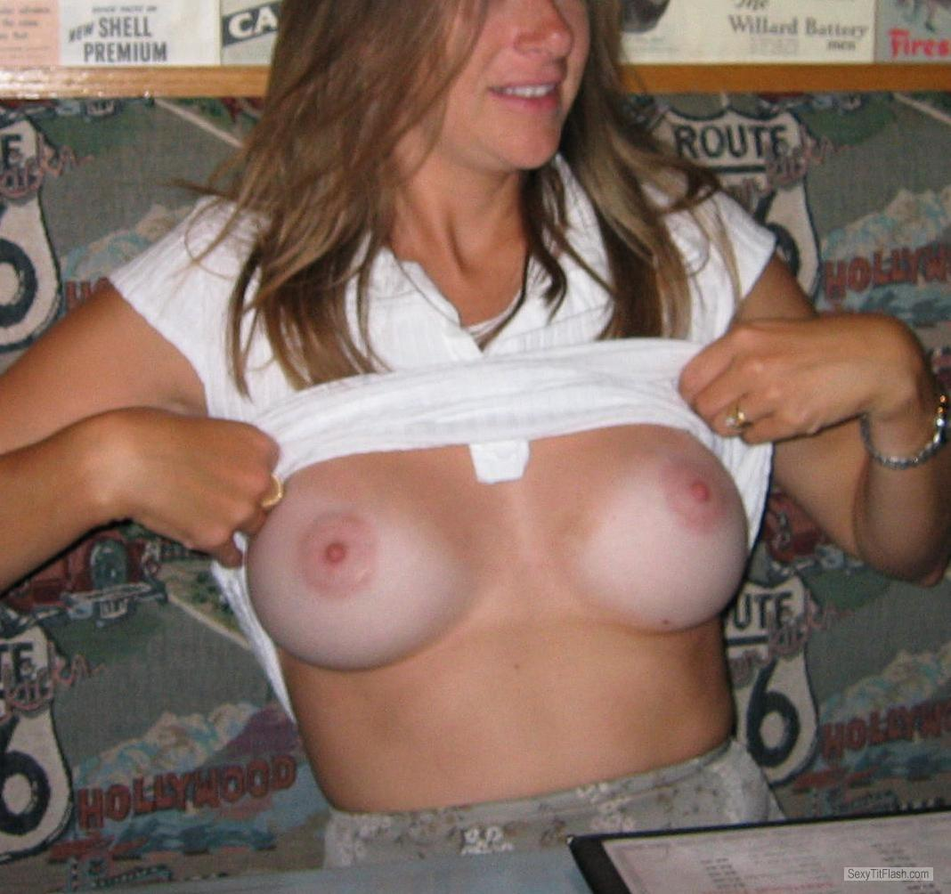 Tit Flash: My Friend's Medium Tits With Very Strong Tanlines - Susan from United States