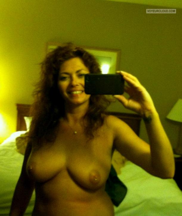 Big Tits Of My Wife Topless Selfie by Amanda