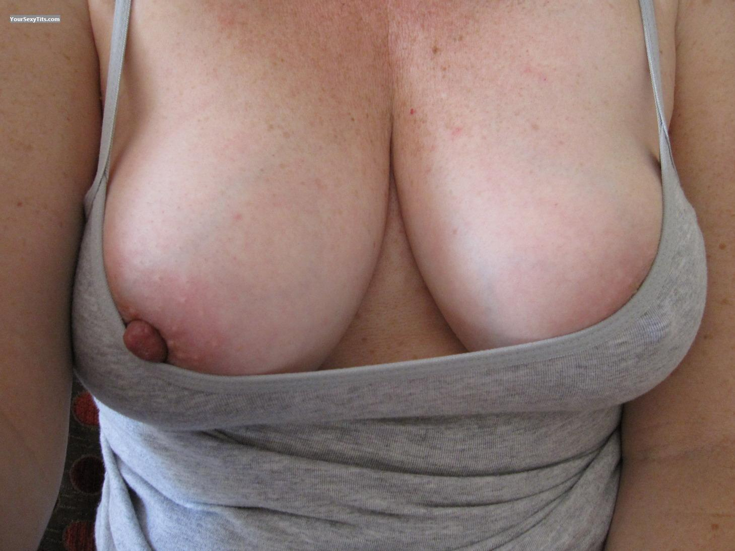 Tit Flash: My Medium Tits (Selfie) - Tees from Australia