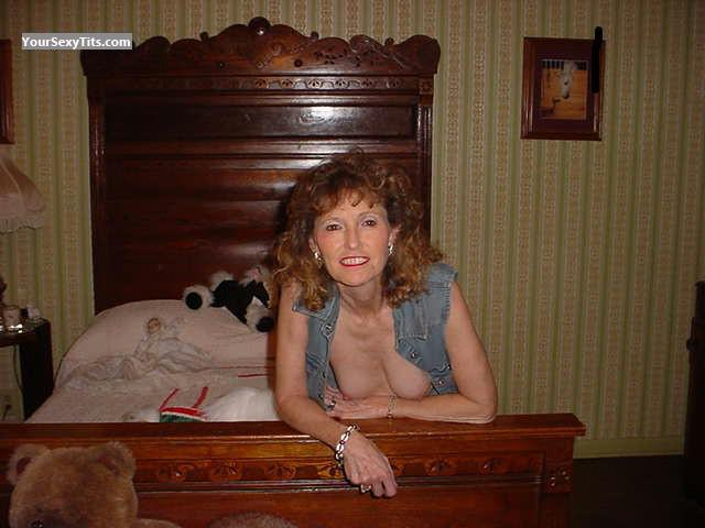 Tit Flash: My Medium Tits - Topless A. Playmate from United States