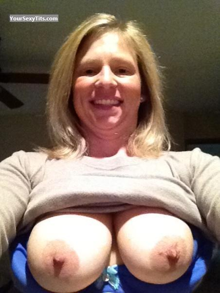 Tit Flash: My Big Tits (Selfie) - Topless American Girl from United States