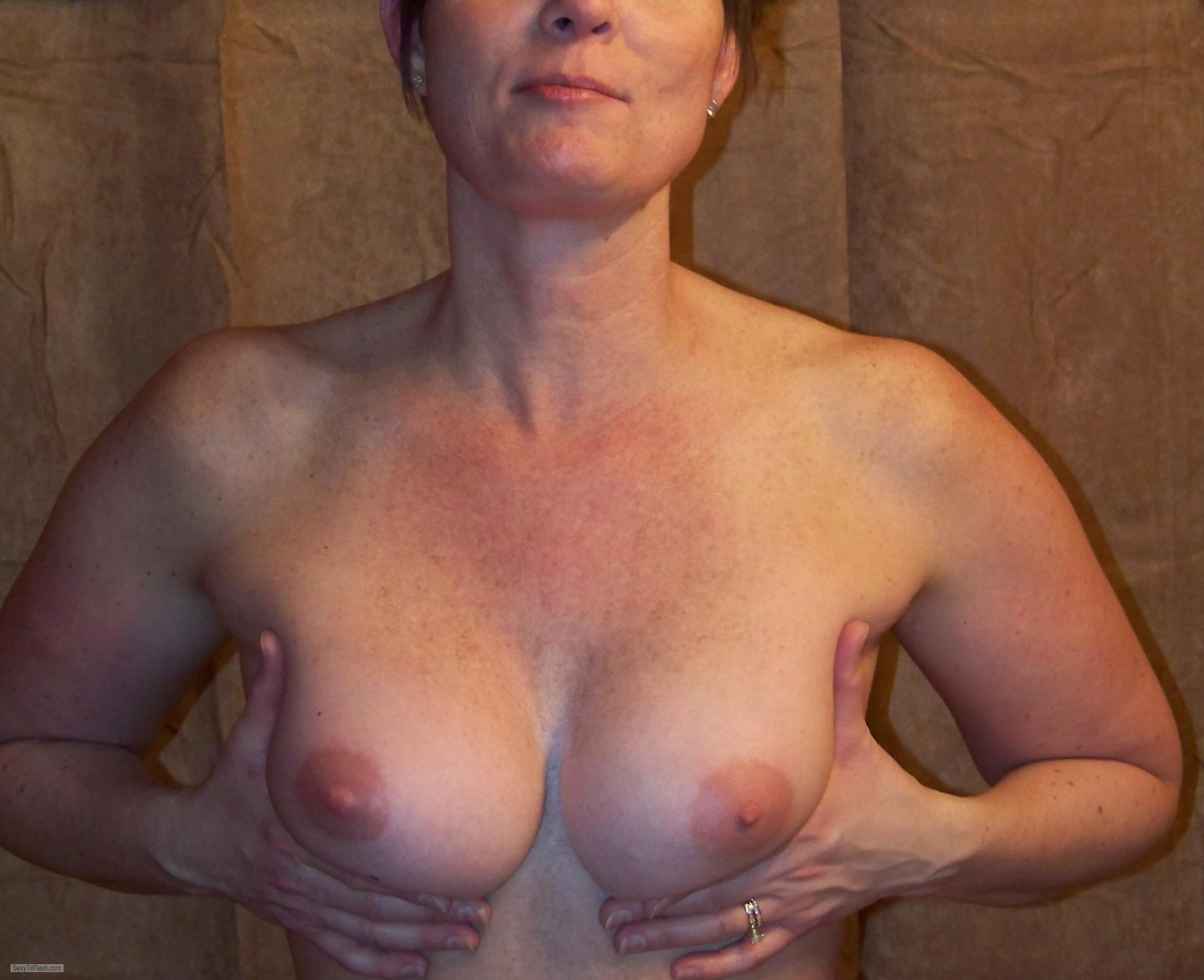 Tit Flash: My Medium Tits - Kate from United States