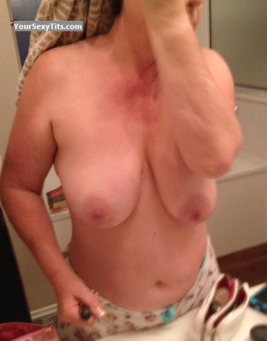 Tit Flash: Wife's Medium Tits - Jan from United States
