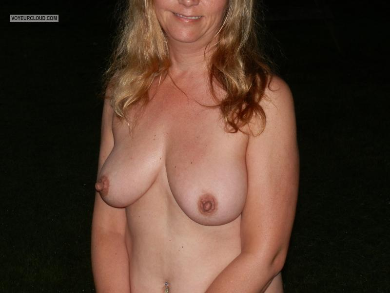 Tit Flash: Wife's Medium Tits - Mrs Smalltowncouple from United States
